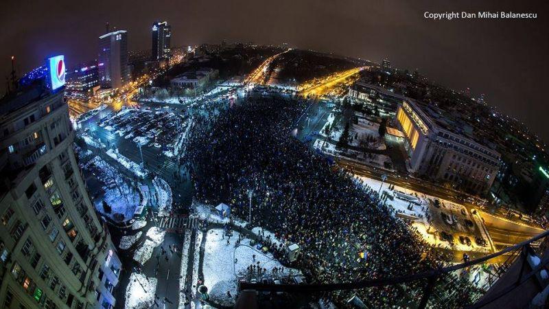 """Protest """"NU Legii Gratierii Si Amnistiei"""",  (București, Piata Victoriei - februarie 2017) - foto: facebook.com"""