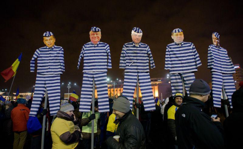 Protest la Guvern, februarie 2017 - foto: Mihuţ Savu / Epoch Times România