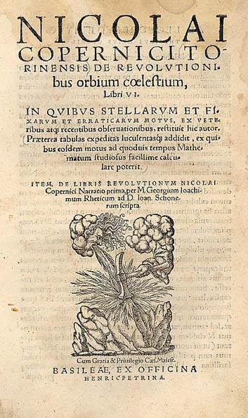 """Nicolaus Copernic - """"De Revolutionibus Orbium Coelestium"""" - foto preluat de pe ro.wikipedia.org"""