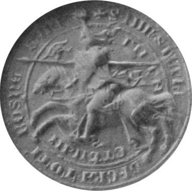Seal of Tvrtko I of Bosnia, dated 14 March 1356 - foto preluat de pe en.wikipedia.org