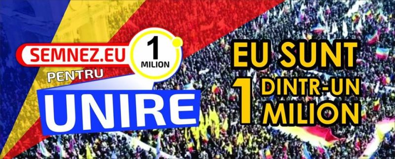 1 milion pentru Unire - Initiativa cetateneasca de revizuirea a Constituţiei prin introducerea unui preambul - foto preluat de pe www.facebook.com