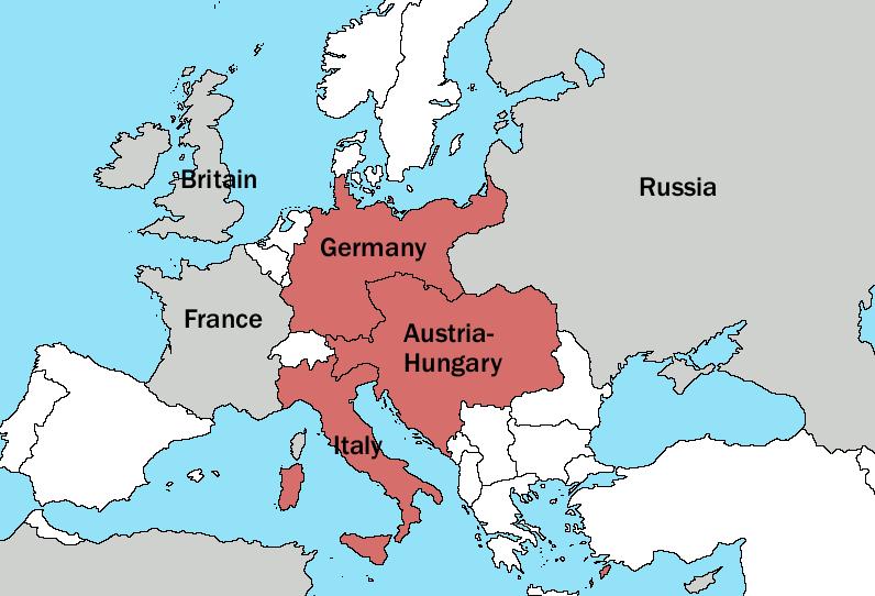 The Triple Alliance in 1913 - foto preluat de pe en.wikipedia.org