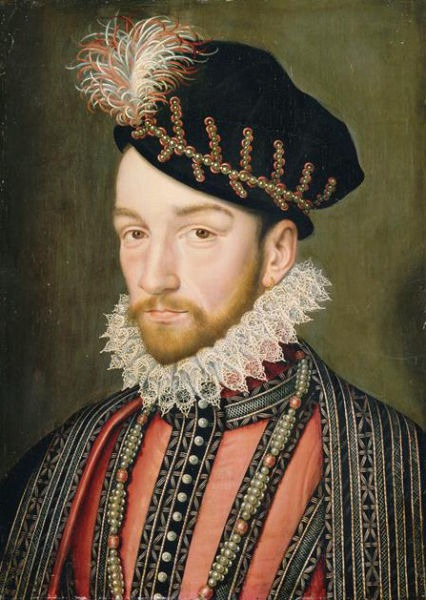 Carol al IX-lea (27 iunie 1550 - 30 mai 1574) născut Charles-Maximilien, a fost rege al Franţei, din 1560 până la moartea sa. - pictură de François Clouet - foto preluat de pe ro.wikipedia.org
