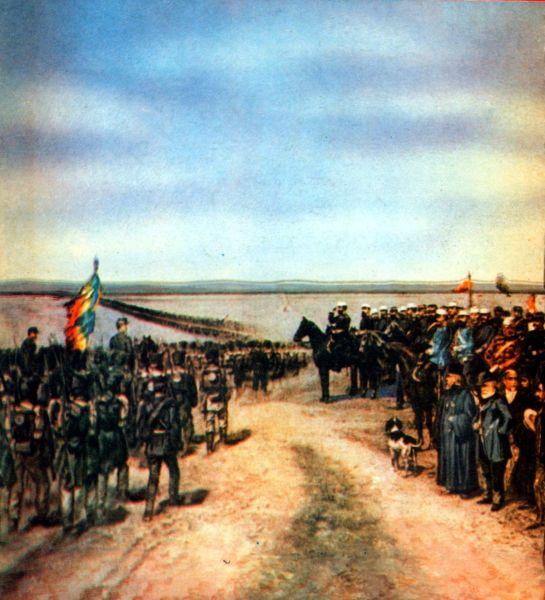 Razboiul de independenta al Romaniei (1877) - Trupele romane trec Dunarea si ocupa Nicopole - fot preluat de pe cersipamantromanesc.wordpress.com