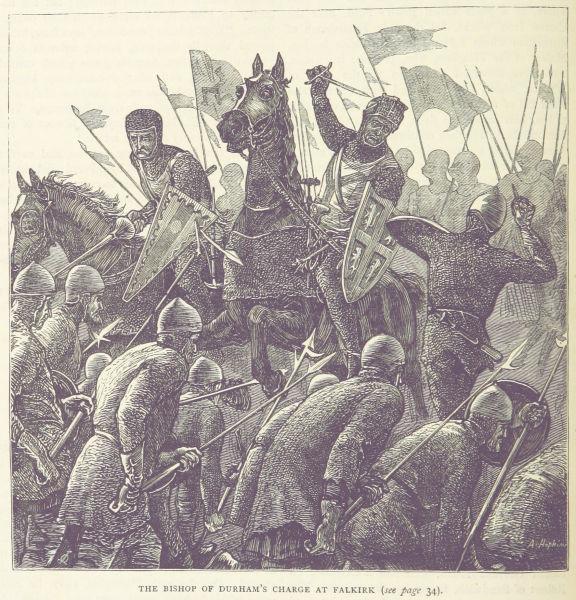Bătălia de la Falkirk (22 iulie 1298) - Parte din Primului Război Scoțian de Independență - A British illustration of Antony Bek's charge - foto preluat de pe en.wikipedia.org