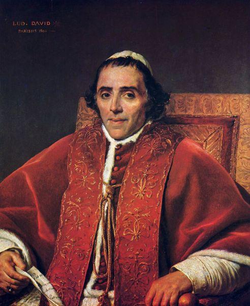 Pius al VII-lea (Ordinul Sfântului Benedict) , cu numele la naştere Barnaba Niccolò Maria Luigi Chiaramonti (* 14 august 1742 în Cesena, Italia; † 20 august 1823 în Roma) a fost un episcop al Romei şi papă al Bisericii Universale, de la 14 martie 1800, până la moartea sa în 1823 - foto: ro.wikipedia.org