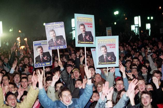 17 noiembrie 1996: Are loc al doilea tur de scrutin al alegerilor prezidențiale din România. Emil Constantinescu, președintele Convenției Democrate Române, obține 54,41% din voturi, devenind noul președinte al României - foto preluat de pe www.mediafax.ro