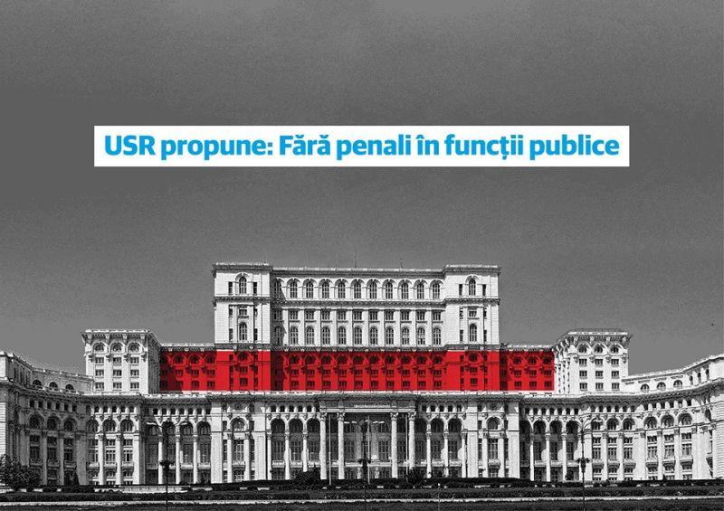 USR strânge semnături pentru a interzice prin Constituție penalii în funcții publice - foto preluat de pe facebook.com