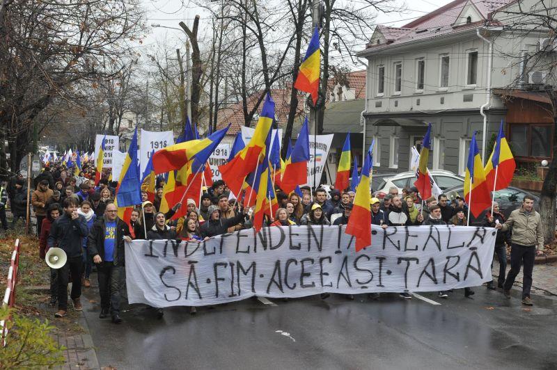 Marsul Unirii - Chișinău (2 decembrie 2017) - foto preluat de pe facebook.com/basarabiapamantromanesc/