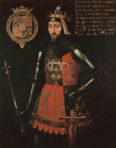 John of Gaunt, Duke of Lancaster (1340-1399) - foto preluat de pe ro.wikipedia.org