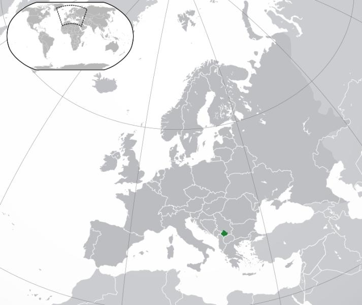 Kosovo în Europa - foto preluat de pe ro.wikipedia.org