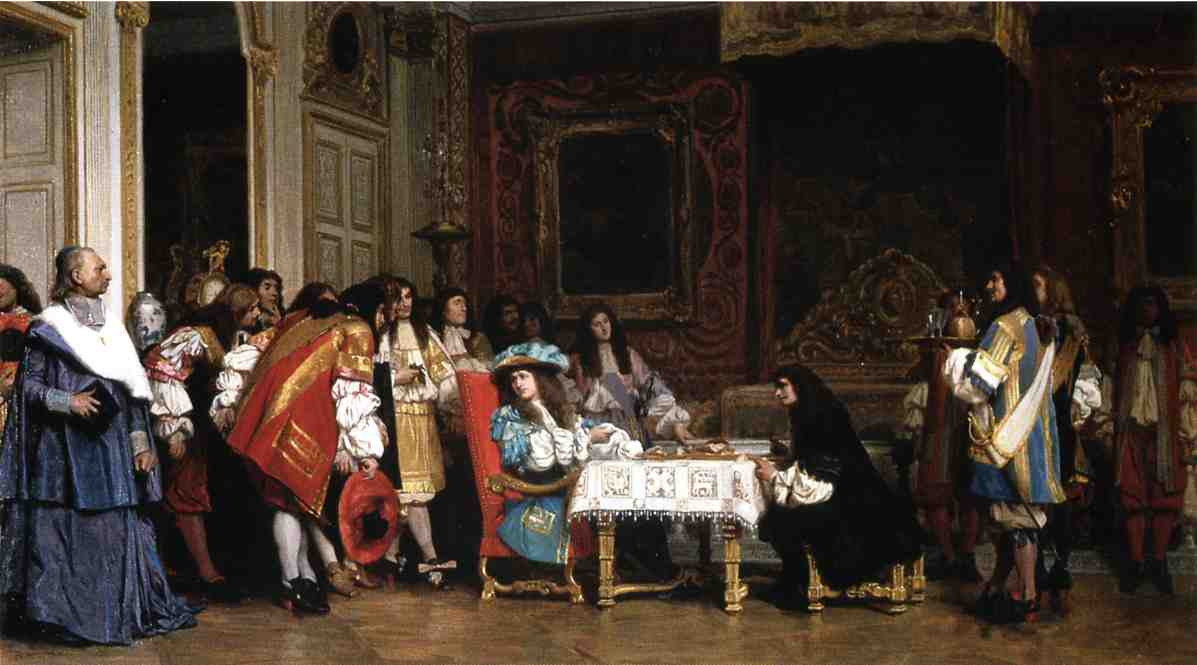 Louis XIV invites Molière to share his supper—an unfounded Romantic anecdote, illustrated in 1863 painting by Jean-Léon Gérôme - foto preluat de pe en.wikipedia.org