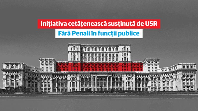 """USR începe strângerea de semnături pentru campania """"Fără penali în funcții publice"""" - foto preluat de pe facebook.com/Uniunea Salvați România - USR"""