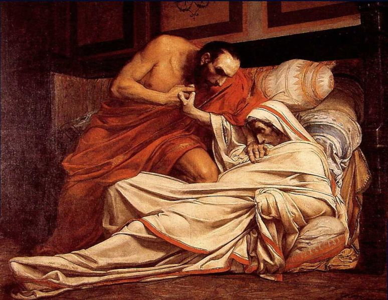 Moartea lui Tiberius - foto preluat de pe ro.wikipedia.org