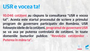 USR lansează primul program de guvernare participativ: Revoluția cetățenilor – Puterea în mâna ta! - foto preluat de pe www.usr.ro