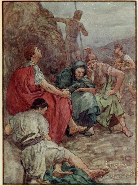 Bătălia de la Filippi - (3 octombrie, 23 octombrie 42 î.Hr.) - Parte a Războaielor civile romane - Brutus and his companions after the Battle of Philippi - foto preluat de pe en.wikipedia.org