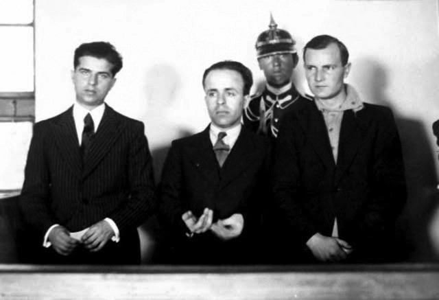 Nicadori este denumirea dată celor trei legionari, Nicolae Constantinescu, Doru Belimace și Ion Caranica care l-au asasinat, la 29 decembrie 1933, pe peronul gării de la Sinaia, pe prim-ministrul României Ion Gheorghe Duca. Cuvântul nicador(i) este un acronim format din primele litere din prenumele a doi dintre autorii asasinatului și primele două litere din numele de familie al celui de-al treilea: Nicolae Constantinescu, Caranica Ion, Doru Belimace - foto preluat de pe ro.wikipedia.org