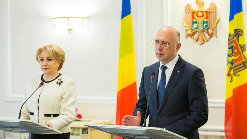 Prim-ministrul României Viorica Dăncilă și Prim-ministrul Republicii Moldova Pavel Filip - foto preluat de pe www.b1.ro