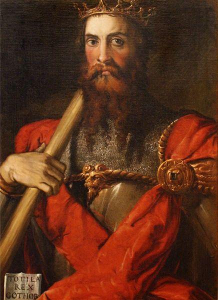 Totila a fost regele ostrogoților din 541 până la moartea sa în 552 (Totila by Francesco Salviati) - foto preluat de pe en.wikipedia.org