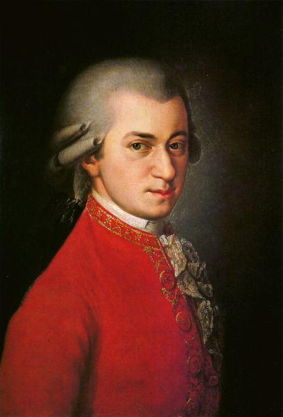 Wolfgang Amadeus Mozart (n. 27 ianuarie 1756, Salzburg - d. 5 decembrie 1791, Viena) a fost un compozitor austriac, unul din cei mai prodigioşi şi talentaţi creatori în domeniul muzicii clasice (pictură de Barbara Krafft) - foto preluat de pe ro.wikipedia.org