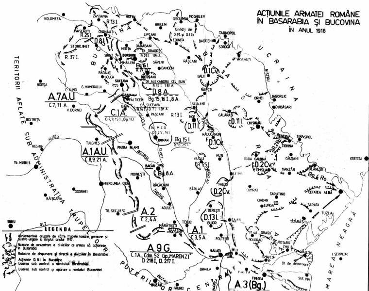 Acţiunile armatei române în Basarabia şi Bucovina (ianuarie-februarie 1918) - foto preluat de pe cristiannegrea.ro
