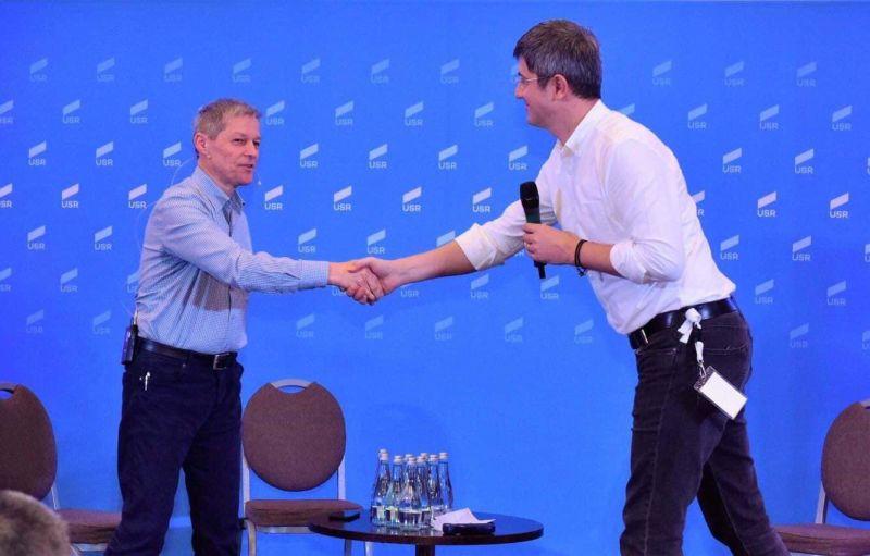 Alianța 2020 USR PLUS (Dacian Cioloș, președintele PLUS și Dan Barna, președintele USR, 02 februarie 2019) - foto preluat de pe www.facebook.com/USRNational
