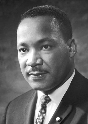 Martin Luther King Jr. (n.15 ianuarie 1929, Atlanta, Georgia - d. 4 aprilie 1968, Memphis, Tennessee) a fost un pastor baptist nord-american, activist politic, cunoscut mai ales ca luptător pentru drepturile civile ale persoanelor de culoare din Statele Unite ale Americii - foto preluat de pe ro.wikipedia.org