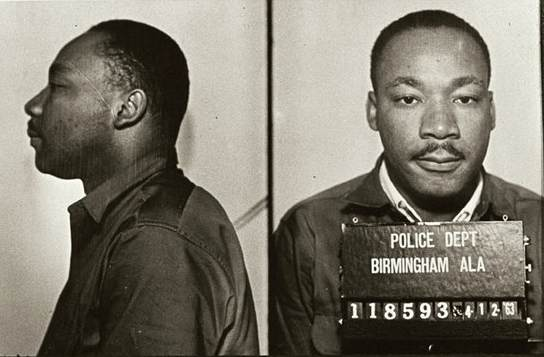 King was arrested in 1963 for protesting the treatment of blacks in Birmingham - foto preluat de pe en.wikipedia.org