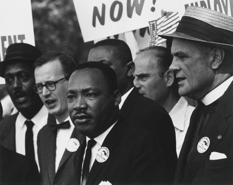 King at the 1963 Civil Rights March in Washington, D.C - foto preluat de pe en.wikipedia.org