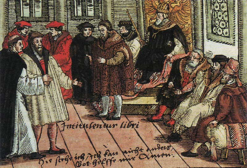 Luther la Dieta din Worms (1557) - foto preluat de pe ro.wikipedia.org