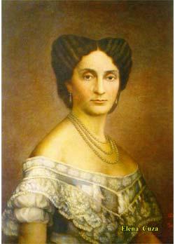 Elena Cuza (n. 17 iunie 1825, Iaşi – d. 2 aprilie 1909, Piatra-Neamţ), cunoscută şi ca Elena Doamna, a fost soţia domnitorului Alexandru Ioan Cuza - foto preluat de pe ro.wikipedia.org