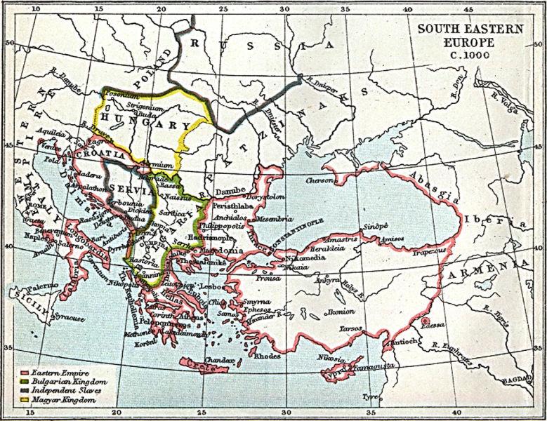 Sud-estul Europei ~1000 e.n. (patzinaks=pecenegi) - foto preluat de pe ro.wikipedia.org