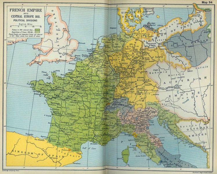 Imperiul Francez în Europa în anul 1811 - foto preluat de pe ro.wikipedia.org