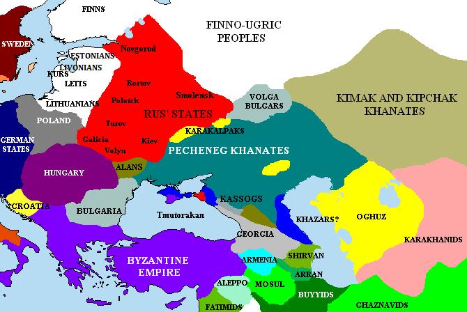 Teritoriul aproximativ ocupat de pecenegi (cca. 1015 AD) - foto preluat de pe ro.wikipedia.org