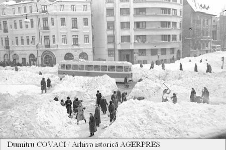 Marele viscol din 1954 - foto preluat de pe www1.agerpres.ro