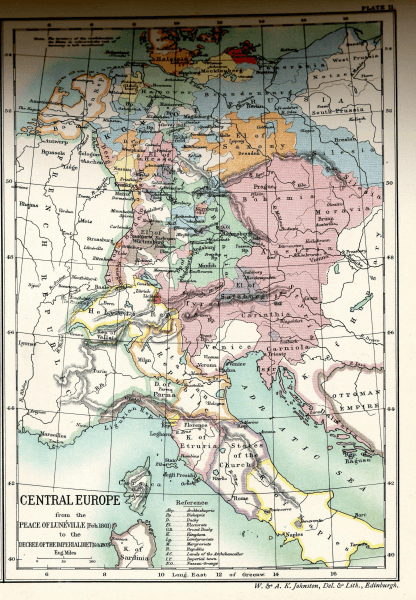 Central Europe from the Peace of Lunéville to the Decree of the Imperial Diet - foto preluat de pe en.wikipedia.org