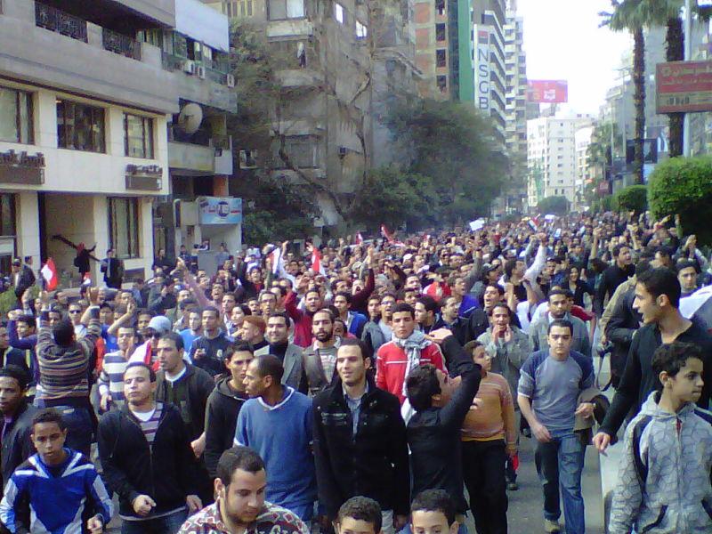 """Revoluția egipteană din 2011 (he """"Day of Revolt"""", 25 January) - foto preluat de pe ro.wikipedia.org"""