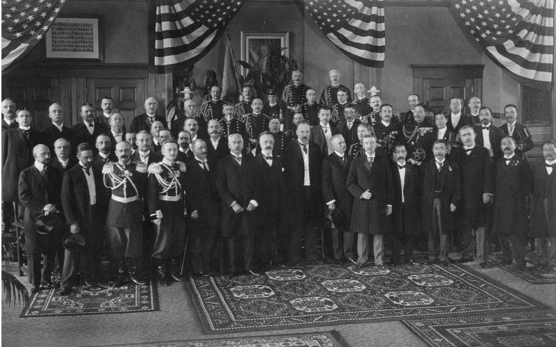 Tratatul de la Portsmouth (5 septembrie 1905) - Primirea delegaţilor - foto preluat de pe ro.wikipedia.org