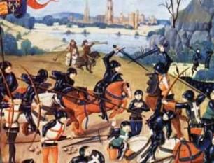 1415: Bătălia de la Azincourt - armata lui Henric al V-lea al Angliei i-a învins pe francezi.