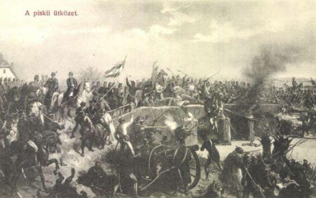 O scenă de luptă din anul 1849, la Simeria, pe malul Mureşului - foto preluat de pe cersipamantromanesc.wordpress.com