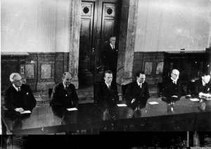 Completul de judecată în procesul de la Nurenburg (20 noiembrie 1945)
