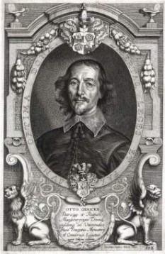 Otto von Guericke (n. 20 noiembrie 1602 CG, Magdeburg, Germania - d. 11 mai 1686 CG, Hamburg, Germania), om de știință, inventator și om politic german. Principala lui realizare științifică a fost crearea fizicii vidului. Otto von Guericke a fost primar al orașului său natal, Magdeburg, în perioada 1646 - 1676 - foto: cersipamantromanesc.wordpress.com