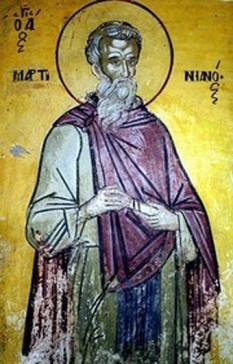 Sfântul Cuvios Martinian. Prăznuirea sa de către Biserica Ortodoxă se face la data de 13 februarie - foto: crestinortodox.ro