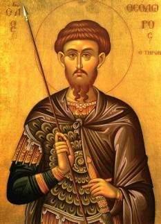 Sfântul Mare Mucenic Teodor Tiron a trăit pe vremea împăraților Maximian și Maximin și era de fel din mitropolia Amasiei (provincia Pont), din localitatea ce se chema Himialon. Era militar, și a pătimit în timpul persecuției lui Maximin (aprox. 303). Prăznuirea lui se face la 17 februarie, iar în primă sâmbătă din Postul Mare se face pomenire de minunea colivei, pe care a făcut-o la 50 de ani după moarte - foto: crestinortodox.ro