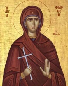 Sfânta Maică Muceniţă Filoteia s-a născut în Atena în anul 1522. Pomenirea sa de catre Biserica Ortodoxa se face la data de 19 februarie - foto: crestinortodox.ro