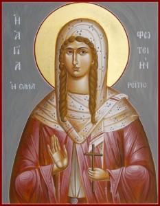 Sfânta Muceniță Fotini Samarineanca. Pomenirea sa de către Biserica Ortodoxă se face la data de 26 februarie - foto: basilica.ro