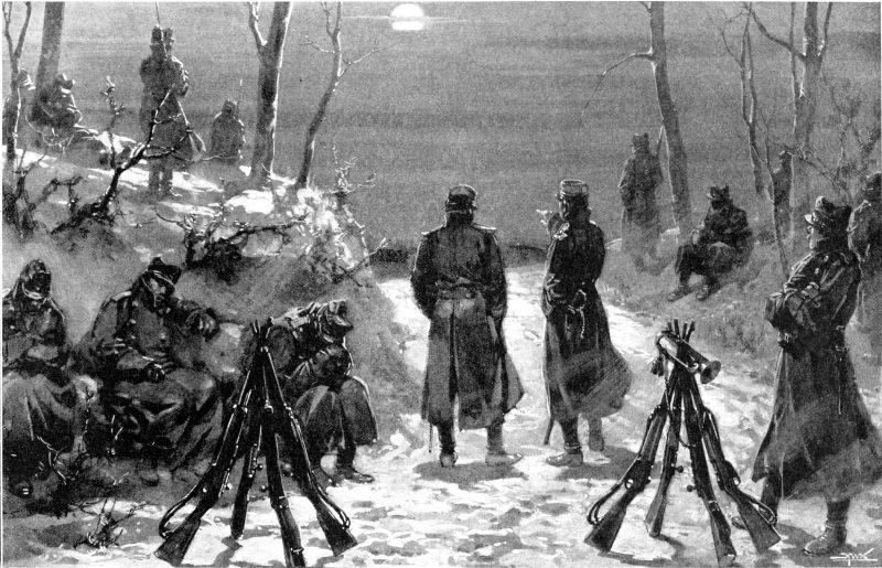 Răscoala Țărănească din 1907 - Un pichet de avertizare al armatei lângă Brăila - foto preluat de pe ro.wikipedia.org