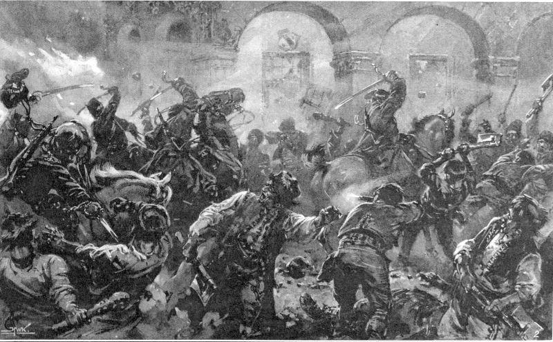 Ciocnire înte cavaleria regală și țăranii în Comănești - foto preluat de pe ro.wikipedia.org