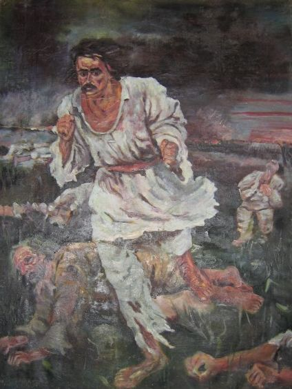 """""""Răscoala"""", tablou de Octav Băncilă - foto preluat de pe ro.wikipedia.org"""