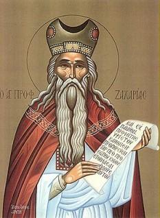 Sfântul Prooroc Zaharia. Prăznuirea sa de caătre Biserica Ortodoxă se face la data de 8 februarie - foto: calendar-ortodox.ro